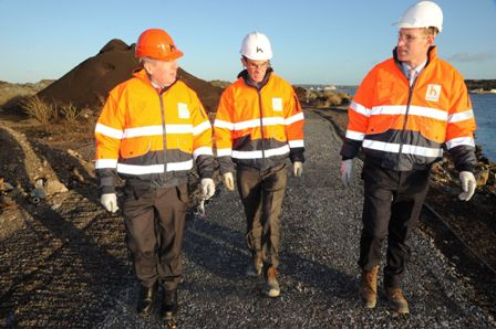 Minister for Agriculture, Food and the Marine, Michael Creed TD, visits the East Tip works site at Haulbowline Island 2