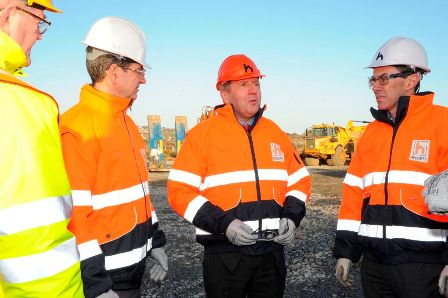 Minister for Agriculture, Food and the Marine, Michael Creed TD, visits the East Tip works site at Haulbowline Island 1