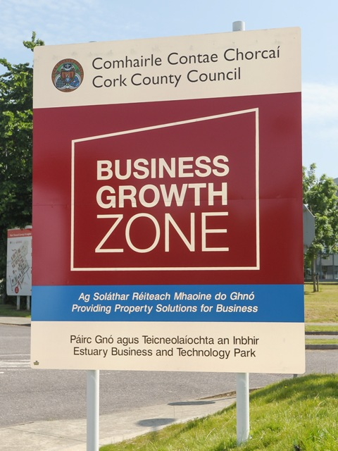 Business Growth Zone Sign