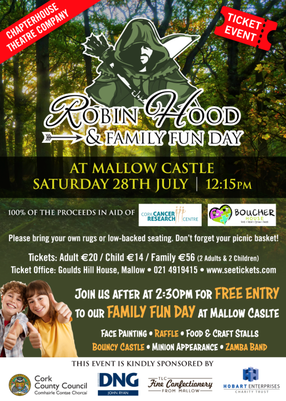 Mallow Castle Robin Hood Family Funday Poster