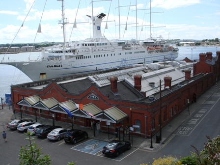 Cobh Heritage Center and ship