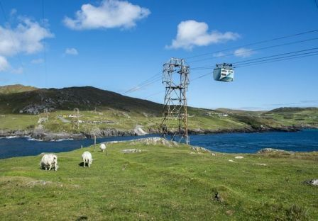 Dursey Island Cable Car over water