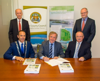 L-R Back - Sean Carrigy Director PJ Hegerty and Sons, Deputy Chief Executive Declan Daly Cork County Council,