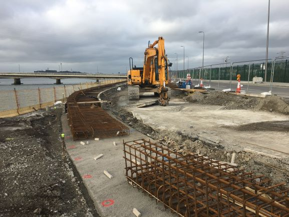 Works progressing on public access road