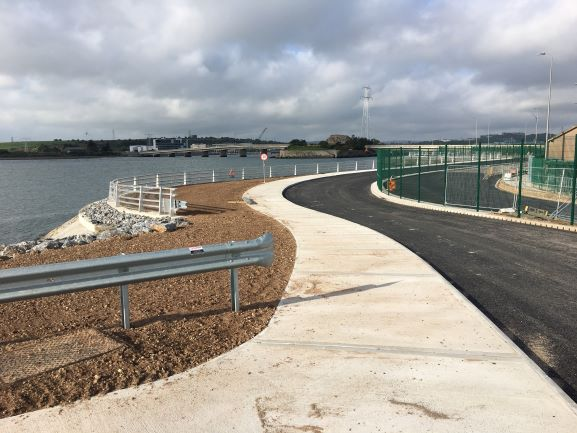 public access road nearing completion