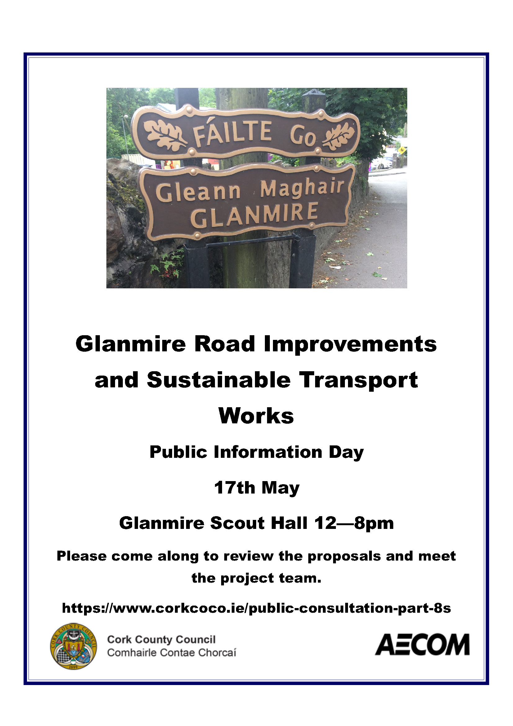 Glanmire Part 8 public exhibition poster