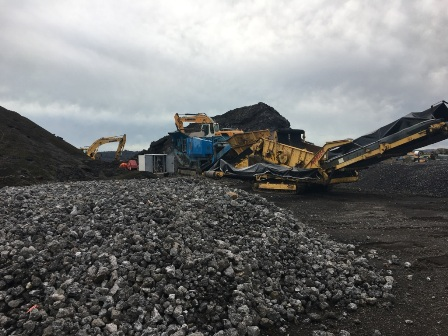 Commencement of slag processing