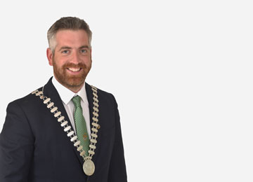 Mayor of the County of Cork, Councillor Christopher O'Sullivan