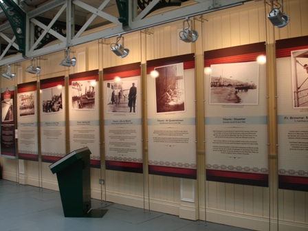 Display of information of the Titanic