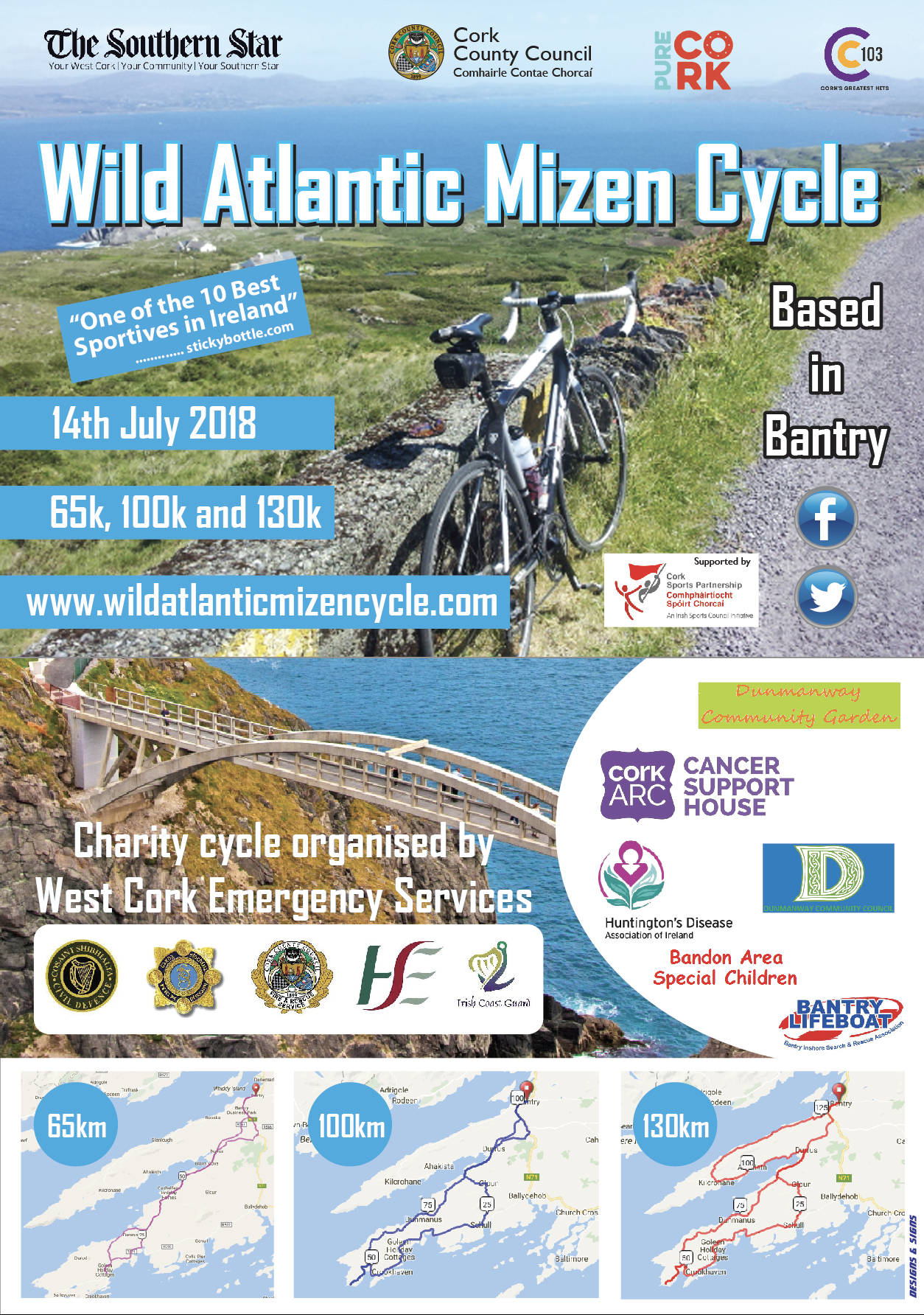 Wild Atlantic Mizen Cycle poster