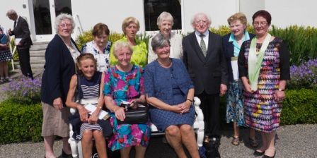 Macroom Library group with President Higgins