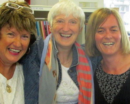 Author Felicity Hayes-McCoy with Bandon Library Staff