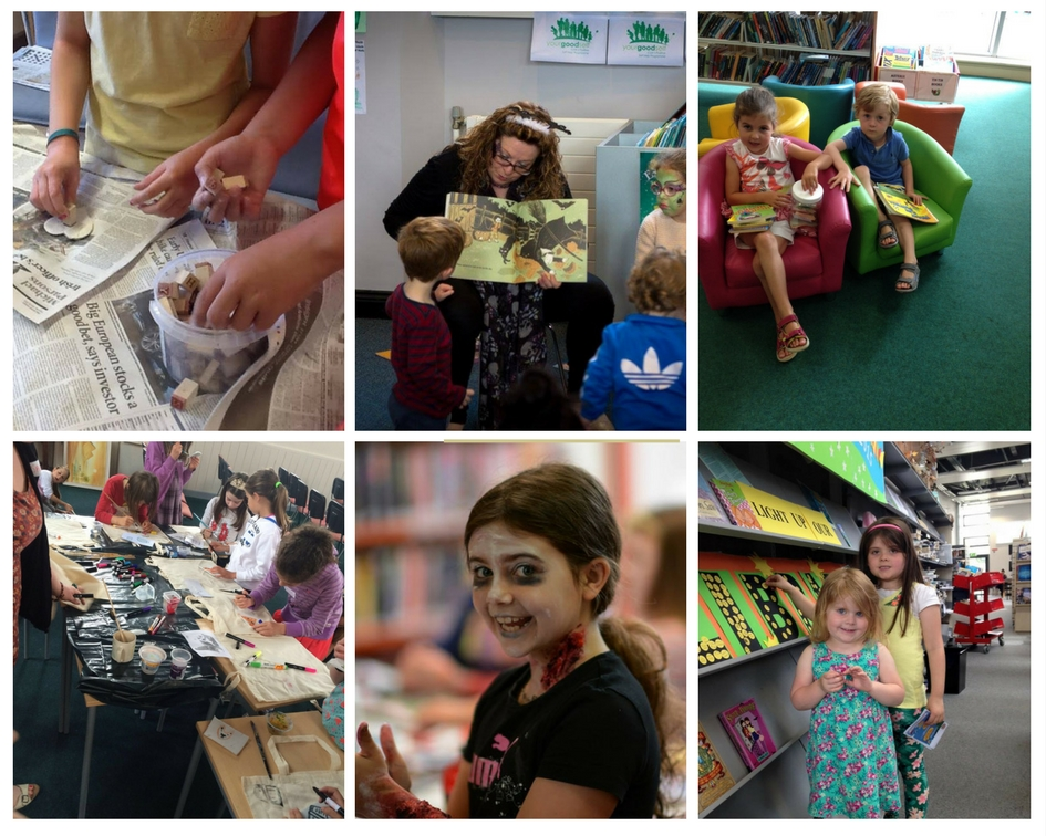 Collage of Children's Events at the Library