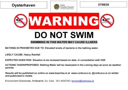 Image of Oysterhaven Prohibition Notice