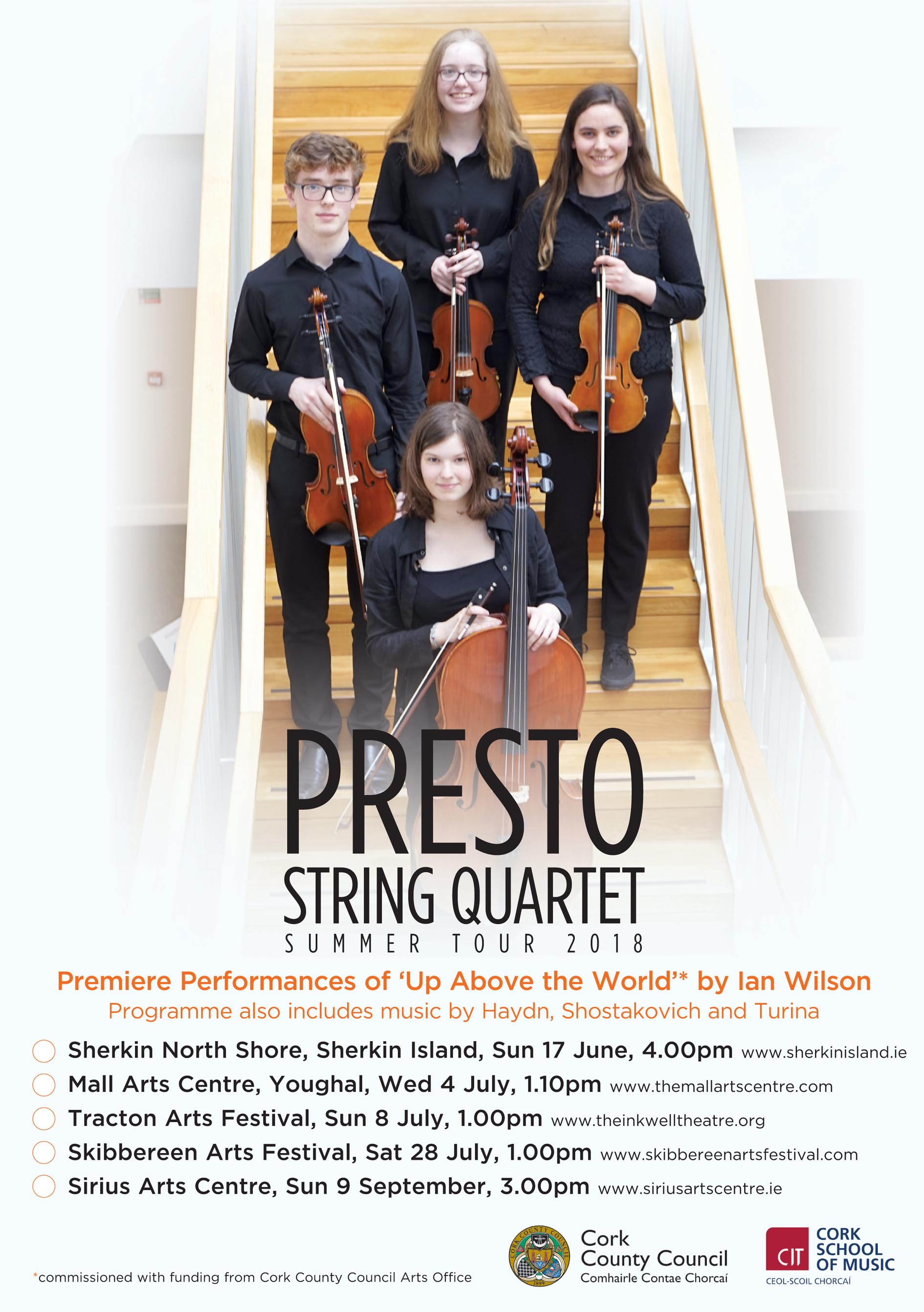 Presto String Quarter Summer Tour 2018