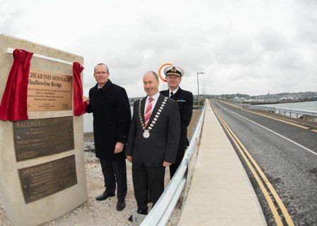 Minister for Agriculture, Food and the Marine Simon Coveney, T.D. officially re-opened the newly remediated Haulbowline Island Bridges at Cork Harbour