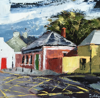 Donagh Carey painting of Schull Library