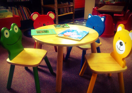 Children's chairs at Skibbereen Library