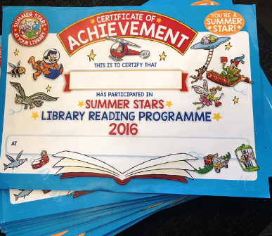 Summer Reading Programme Certificates