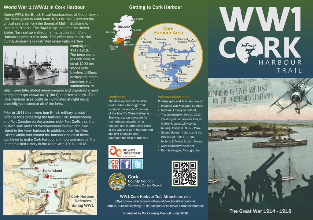 ww1 cork harbour trail brochurePage 1